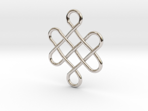 Celtic Design in Rhodium Plated Brass