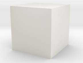 3D printed Sample Model Cube 0.25cm in White Natural Versatile Plastic