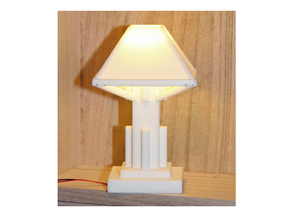 1/6 scale Arts and Crafts Lamp in White Processed Versatile Plastic