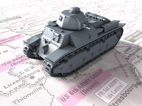 1/87 (HO) French Char D2 Medium Tank in Smooth Fine Detail Plastic