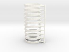 TTRPG Condition Rings 10 pcs in White Processed Versatile Plastic