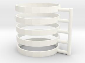 TTRPG Condition Rings 5 pcs in White Processed Versatile Plastic