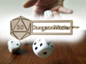 RPG Keychain - Dungeon Master in Polished Bronzed-Silver Steel