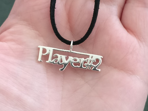 Player 2 pendant necklace in Polished Silver