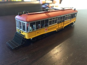 HO LA Railway Sowbelly without fenders in Smooth Fine Detail Plastic