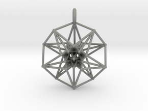 5dhypercube-42mm-1 in Gray Professional Plastic: Small
