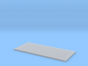HO Utility Bed Diamondplate Large Plate MidFore in Smooth Fine Detail Plastic