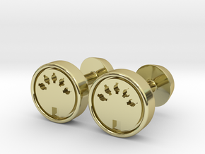 Midi Port Cufflinks in 18k Gold Plated Brass