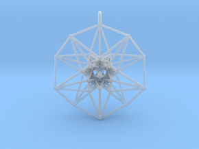 5D Toroidal HyperCube 50mm  in Smooth Fine Detail Plastic: Small