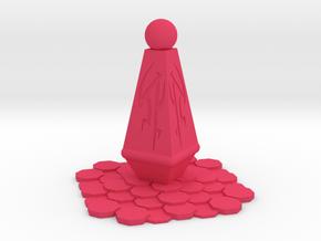 Alien Monument Miniature (28mm Scale) in Pink Processed Versatile Plastic