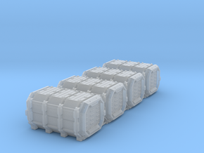 Grim Container 2 6mm 4-pack in Smooth Fine Detail Plastic