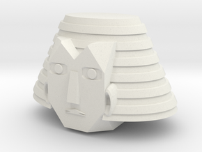 Magno Pharoid Commander Head in White Natural Versatile Plastic