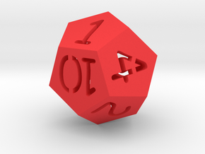 Dice in Red Processed Versatile Plastic