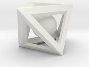 Impossible Box in White Natural Versatile Plastic