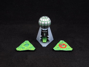 Laboratory & Slime tokens (3pcs) in White Processed Versatile Plastic