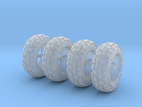 1:64 off road tires for 9mm rims. in Smoothest Fine Detail Plastic