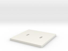 Stelconplaat H0 1;87 in White Natural Versatile Plastic: 1:87 - HO