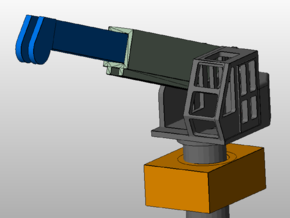 10-ton crane with socket (1:200) in Smooth Fine Detail Plastic