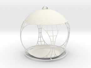 Quasispherical Birdfeeder in White Natural Versatile Plastic