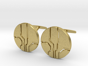 Eld Cufflinks (cast) in Natural Brass