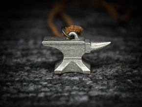Anvil Pendant - Original Design in Polished Nickel Steel
