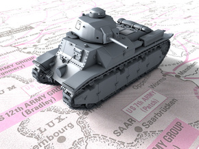 1/160 (N) French Char D2 AMX4 SA35 Medium Tank in Smoothest Fine Detail Plastic