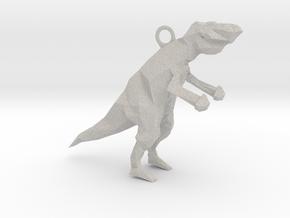 Polygonal Dinosaur in Natural Full Color Sandstone