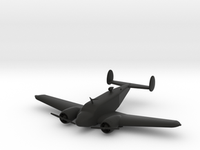 Beechcraft Model 18 in Black Natural Versatile Plastic