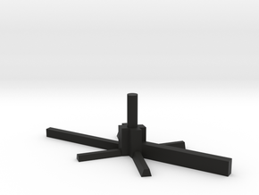 5mm Model Aircraft Stand in Black Natural Versatile Plastic
