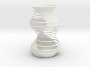 Vase MT2130 in White Natural Versatile Plastic