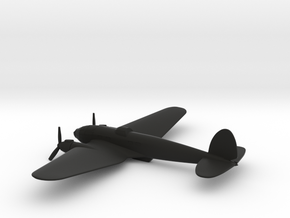 Heinkel He 111 (w/o landing gears) in Black Natural Versatile Plastic: 1:200
