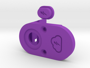 Y_mod_M V1.0 (TITAN) Top Plate and Button Only  in Purple Processed Versatile Plastic