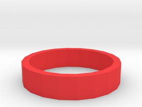 BOLD RING in Red Processed Versatile Plastic: 3.5 / 45.25