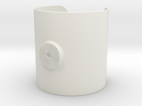Armclamp_Elastic_90mm in White Natural Versatile Plastic