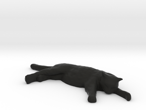 1/18 Sleeping Cat for Auto Diorama in Black Natural Versatile Plastic