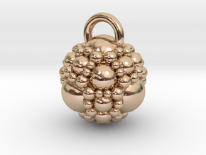 Fractal sphere pendant in 14k Rose Gold