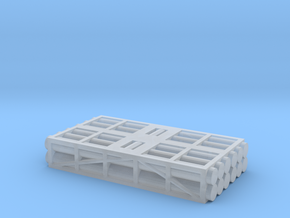 1 to 285 MLRS pod 2 pod stack in Smooth Fine Detail Plastic