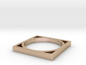 Edge 4 in 14k Rose Gold Plated Brass: 4 / 46.5