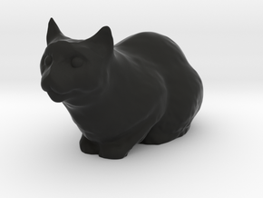 1/20 Cat Loaf  in Black Natural Versatile Plastic