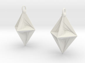 PsDode Earrings in White Natural Versatile Plastic