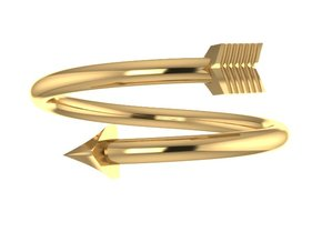 Midi Arrow Ring in 14K Yellow Gold