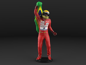 Ayrton 1/18 Flag Figure 1988 in Natural Full Color Sandstone