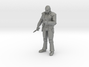 28mm Futuristic Street Gang Member in Gray Professional Plastic