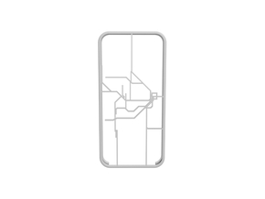 Sydney Suburban Network map iPhone 5s case in White Strong & Flexible
