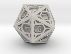 D20 Balanced - Cage die in Natural Full Color Sandstone