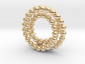 Pearled Knot in 14K Yellow Gold