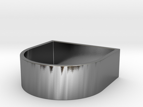 Edge 3 XL in Polished Silver: 4 / 46.5