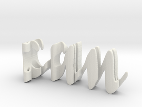 3dWordFlip: can/tugce in White Natural Versatile Plastic