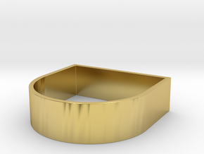 Edge 3 XL in Polished Brass: 8 / 56.75