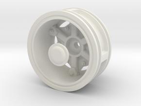 Rear-Wheel-single-tyre in White Natural Versatile Plastic